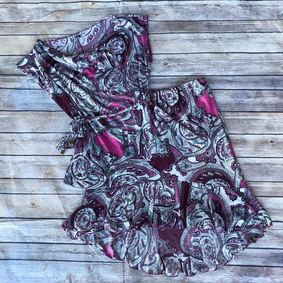 Maternite Other - Maternite Paisley Cowl Neck Top & Ruffle Skirt S